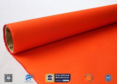 China 0.2mm Orange Acrylic Coated Fiberglass Cloth High Temperature Resistant distributor