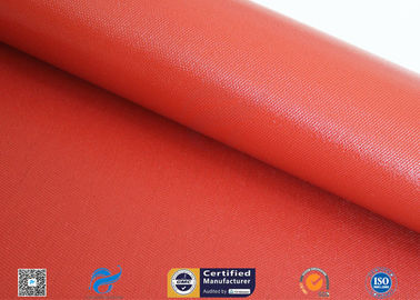 China 1mm Bright Red Silicone Coated Fiberglass Cloth For Thermal Insulation Jacket factory
