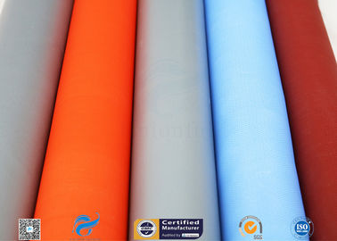 China 0.25mm 0.45mm 0.5mm Silicone Coated Glass Fabric / Cloth For Thermal Insulation factory