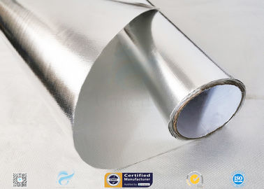 China Moisture Resistant Aluminium Foil Silver Coated Fabric 300℃ Industry Using distributor