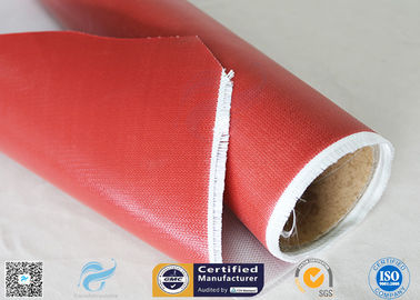 China 1.5m Wide 0.45mm Silicone Coated Fiberglass Fabric 80g Single Side Chemical Resist factory