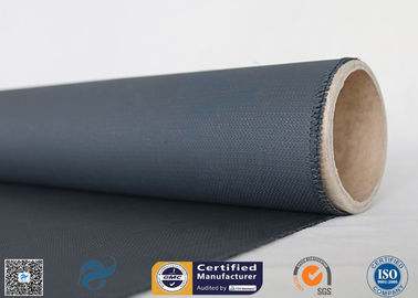 China 3732 Black Color 40g Two Sides Silicone Rubber Coated Fiberglass Fabric 0.45mm factory