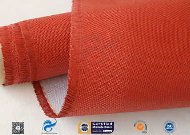 China 0.9mm Red Silicone Coated Fiberglass Fabric , Generator Thermal Insulation Materials factory