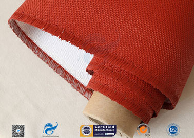 China Electrical Insulation Red Silicone Coated Fiberglass Fabric Cloth 530 gsm factory