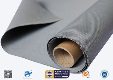China 0.88mm High Quality C-Glass Double Sides Gery Silicone Coated Fiberglass Cloth factory