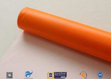 China 0.45mm Chemical Corrosion Resistant Orange Silicone Coated Fiberglass Cloth Fabric distributor