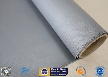 China Waterproof 40/40g 18oz 0.45mm Silicone Coated Fiberglass Fabric 260℃ Gray Color factory