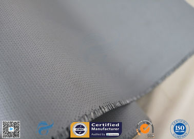 China Non - Adhesive 0.45mm Gray Color 510g High Insulaiton Silicone Coated Fiberglass Fabric factory