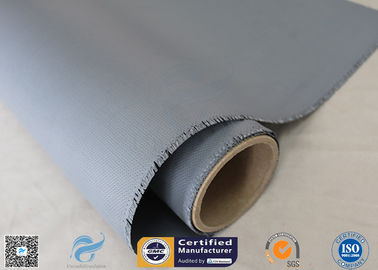 China 0.45mm 1.5m Wide 510g / M2 E - Glass Fiber Silicone Coated Fiberglass Fabric Heat Resistant factory