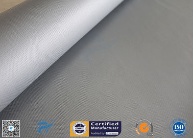 China 1.2*50m Alkali Free 18OZ Two Sides 4HS Silicone Rubber Coated Fiberglass Fabric factory