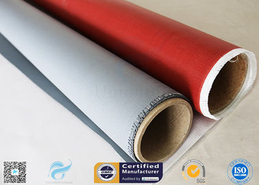 China IMO Testing Fireproof 510g Silicone Coated Fiberglass Fabric 1*50m Welding Curtain factory