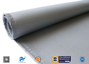 China 0.7mm Grey Silicone Coated Fabric / High Temperature Resistant High Silica Cloth distributor