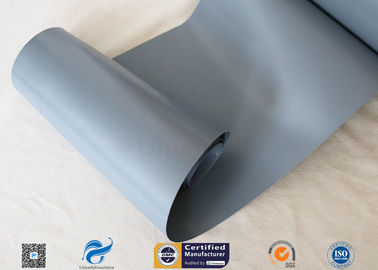 China Waterproof 7628 0.25mm Grey PVC Woven Fabric Coated Fiberglass Fabric 20cm Width factory