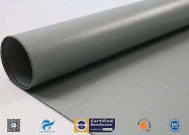 China Two Side Silicone Coated Glass Fabric / Silicone Rubber Coated Fiberglass Fabric factory