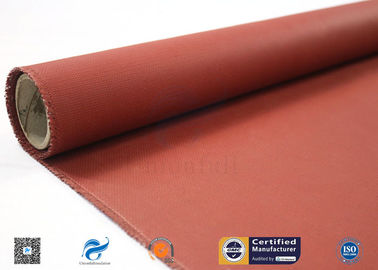 China 580g Silicone Coated Fiberglass Cloth High Temperature Resistant Red factory