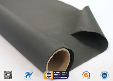 China 0.45mm High Temperature Black Silicone Coated Fiberglass Cloth Insulation Material factory