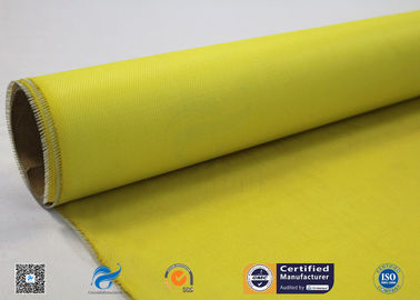China 530g Yellow Silicone Coated Fiberglass Fabric With High Temperature Resistance factory