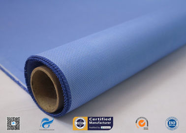 China Double Sides Blue Silicone Coated Fiberglass Cloth Temperature 260℃ factory