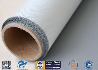 China Colored Silicone 1 Side Coating Fiberglass Fabric Heat Insulation 15oz Gray Color factory