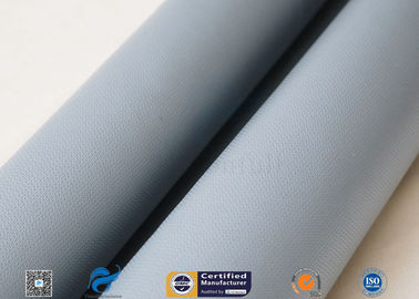 China 15 Oz Silicone Coated Fiberglass Fabric For Welding Blanket 0.43mm factory