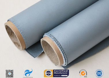 China Gray Color Silicone Coated Fiberglass Fabric 1150g High Intensity Satin Weave factory
