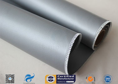 China Satin Weave Silicone Coated Fiberglass Fabric 590g Fire Blanket Double Sides factory
