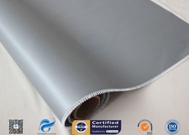 China High Intensity Coated Fiberglass Fabric With Gray Silicone 17oz 1.55m Width factory