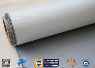 China Fire Curtain E Glass Fabric With Silicone Coated Non Stick 15oz Gray Color factory
