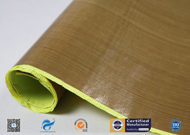 China Heat Resistant PTFE Coated Fiberglass Fabric With Silicone Adhesiive factory
