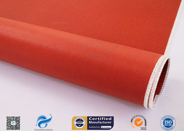 China Durable Thin Fiberglass Cloth 30 Oz With Silicone Rubber Coating On Two Sides factory
