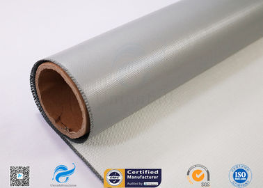 China Thermal Insulation Alkali Free Fiberglass Fabric Coated With Silicone Rubber factory