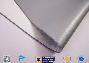 China 0.45mm 260℃ Heat Protection Fiberglass Fabric With Silicone Glue One Side factory