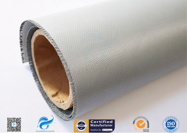 China Industrial Fireproof Fiberglass Fabric , 510g Single Side Rubber Coated Fiberglass Fabric factory