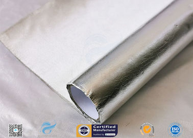 China Waterproof 880g Light Reflect Silver Coated Fabric High Temperature Adhesive factory