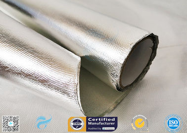 China 0.85mm Thick Silver Coated Fabric 95% Heat Reflection Aluminium Foil Laminated distributor