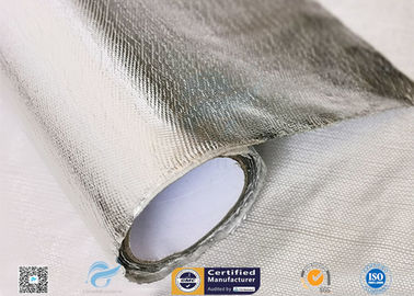 China Hose Silver Heat Resistant Fabric / Aluminum Foil Fiberglass Composite Fabric distributor