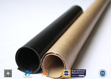 China Heat Resistance Non-Stick E-Glass Plain Woven PTFE Coated Fiberglass Fabric distributor