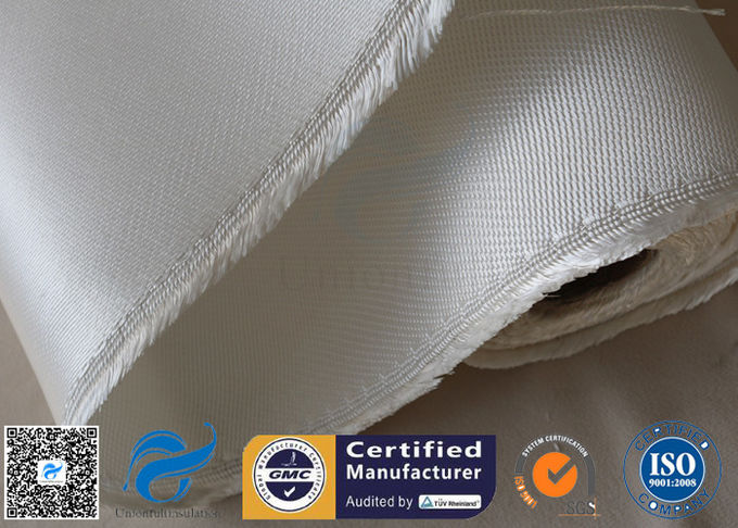Fireproof Heavy Duty High Silica Fabric Fiberglass Cloth 1.3mm Thickness