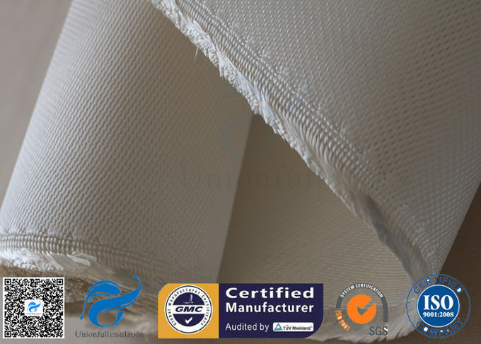 1200g 1.3mm White Chemical Resistant Thermal Insulation High Silica Cloth