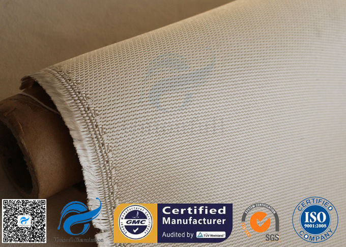 Brown 800℃ Silica Fabric High Temp 1200GSM 50M Roll Anti Corrosion Sealing