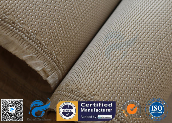 High Temp Silica Fabric Brown 35OZ 92CM 800℃ Durable Electrical Insulation