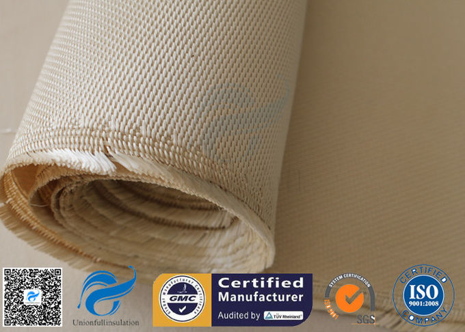 "High Silica Woven Fabric 1200℃ Welding Heat Resistant 1200GSM 39"" Brown"