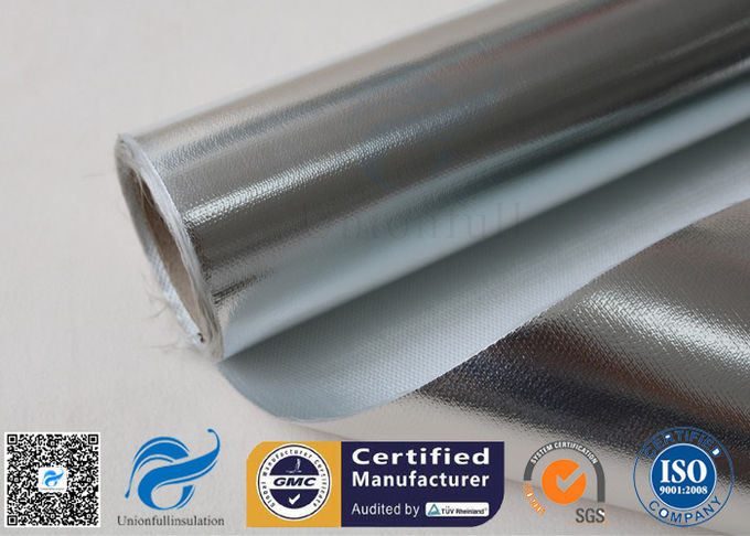 480 G / M2 Silver Coated Fabric Heat Reflective Aluminized Fiberglass Cloth