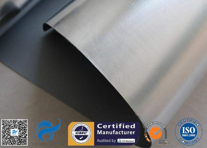 Silver Coated Fiberglass Fabric Heat Resistant Aluminium Foil