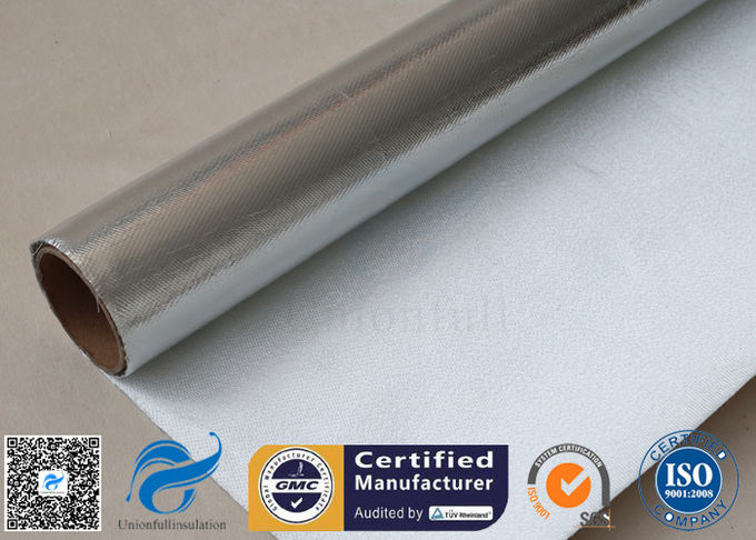 Heat Reflective 0.9mm Aluminium Foil Fiberglass Silver Coated Fabric Pipe Insulation