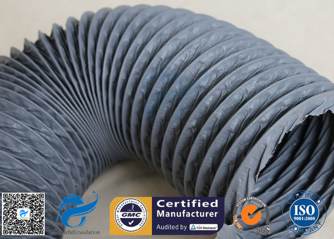 Waterproof / Fire Resistant PVC Coated Fiberglass Fabric For Flexible Air Ducting