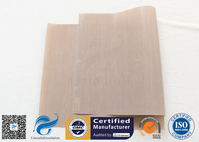 FDA Approved Beige PTFE Coated Fiberglass Fabric For BBQ Grill Mat