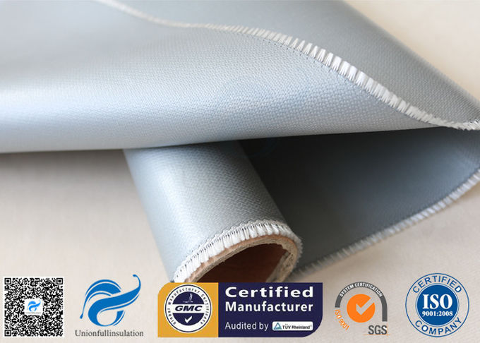 Oil Pipeline Insulation Silicone Coated Fiberglass Fabric Material 0.4 MM Thickness