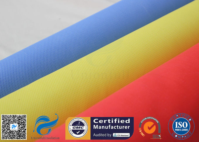 Red Silicone Rubber Coated Fiberglass Engineer Acoustic Insulation Fabric Material