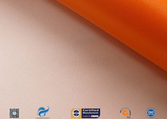 470gsm Thermal Insulation Materials Orange Silicone Coated Fiberglass Cloth
